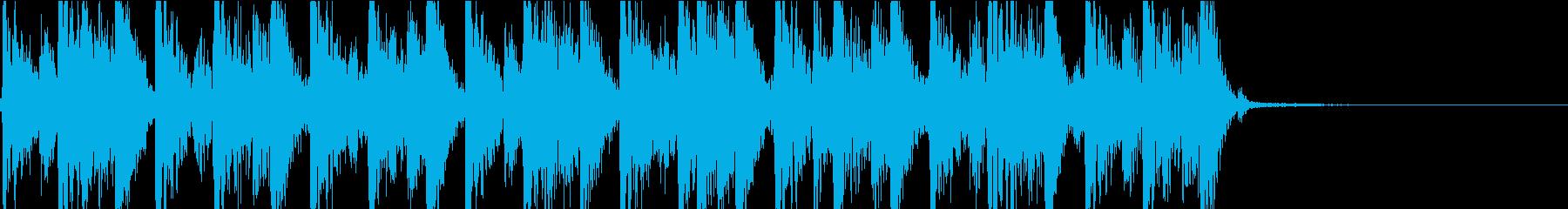 渋くてかっこいいジングルの再生済みの波形