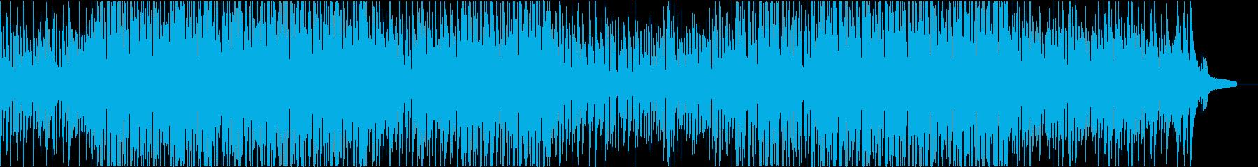 ゆったり落ち着いた感じのボサノバの再生済みの波形
