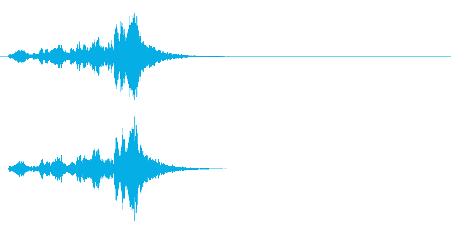 クラシック系ジングルの再生済みの波形