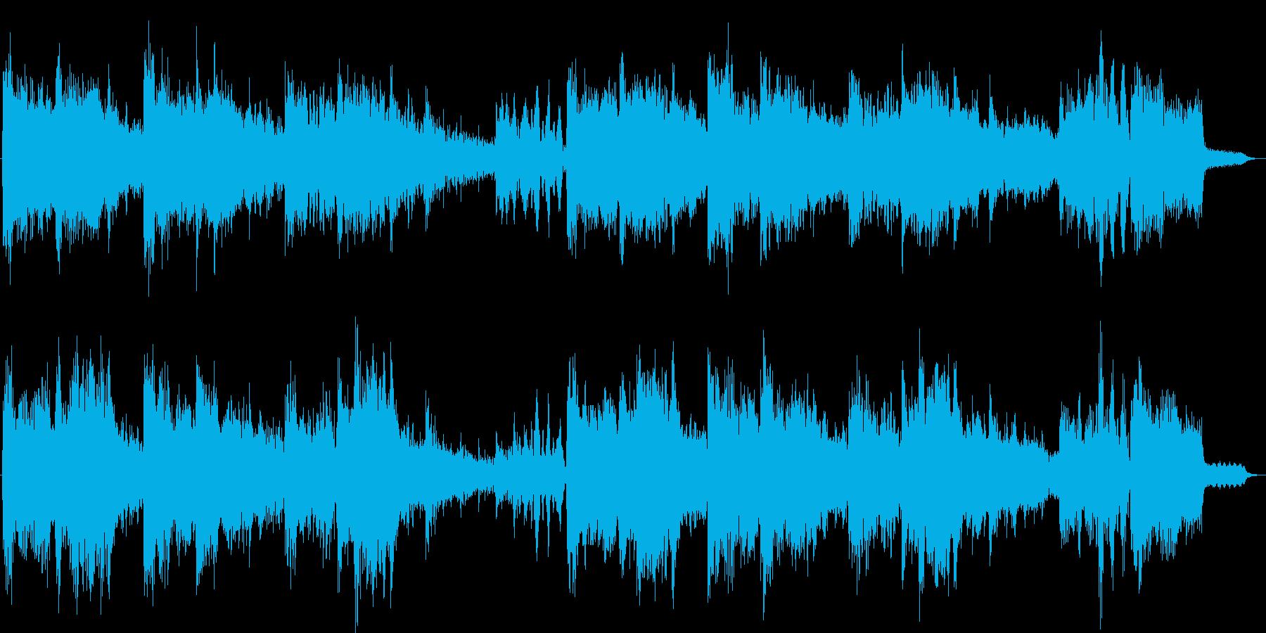 爽やかなシンセヒーリングジングルの再生済みの波形