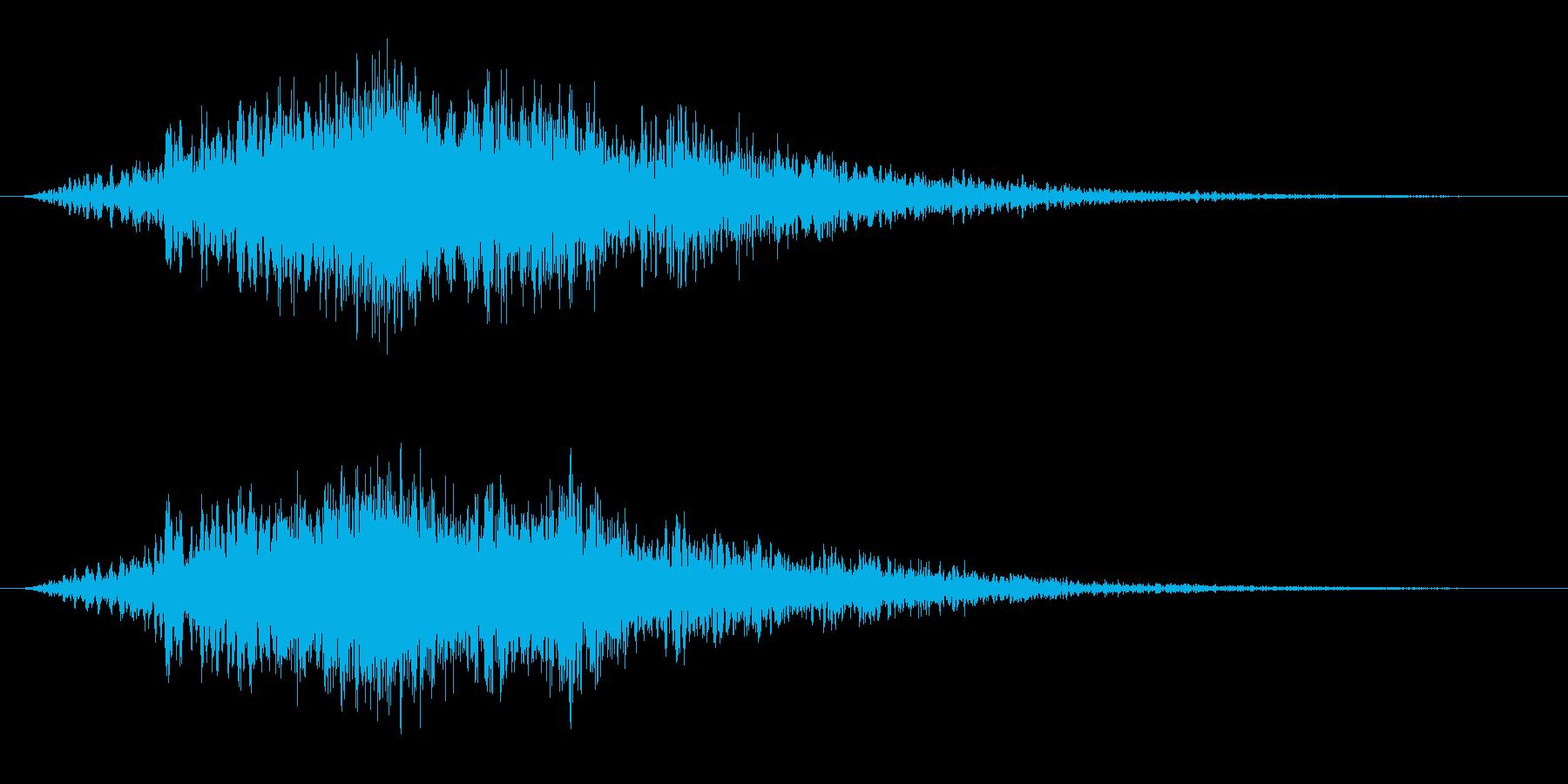 ウオーン(パッド)の再生済みの波形