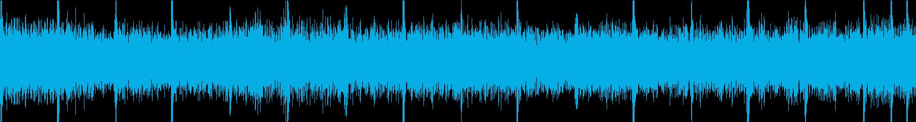 激しいギターの短いハードロック曲の再生済みの波形