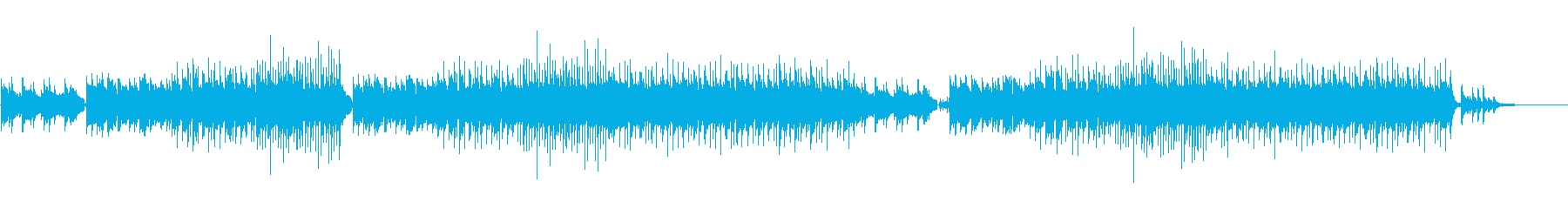 ピアノロマンティックソングの再生済みの波形