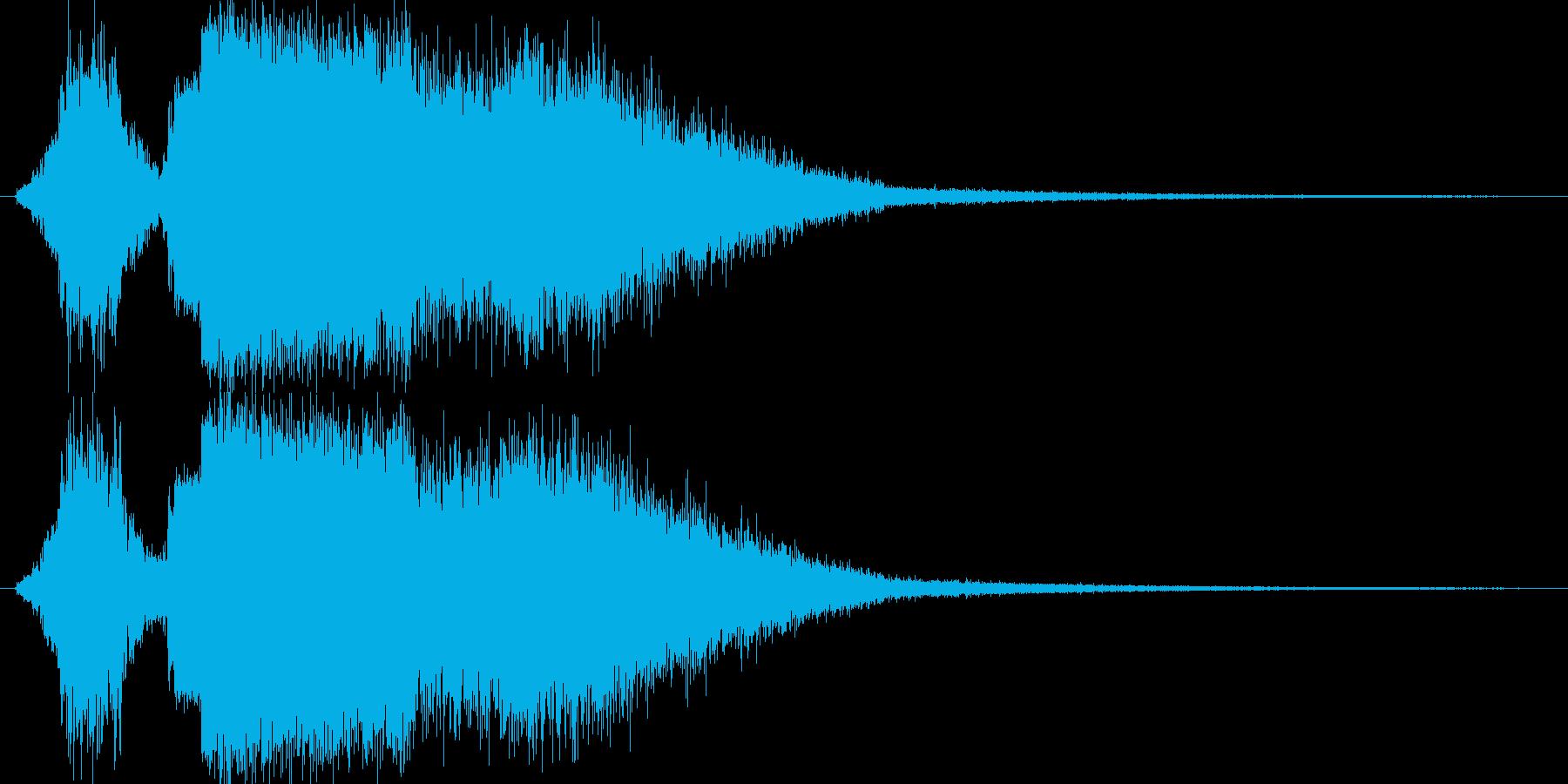 氷魔法(氷のつぶてが直撃)の再生済みの波形