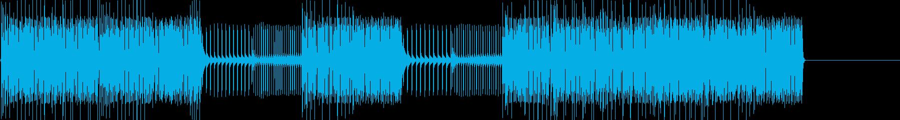 レトロゲームなチップチューンジングル28の再生済みの波形