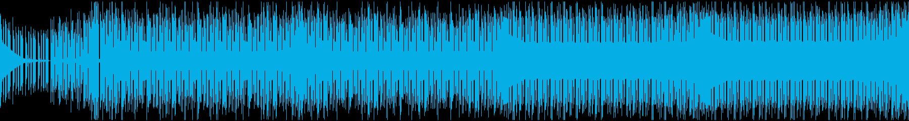 最初のボス戦のためのチップチューンBGMの再生済みの波形