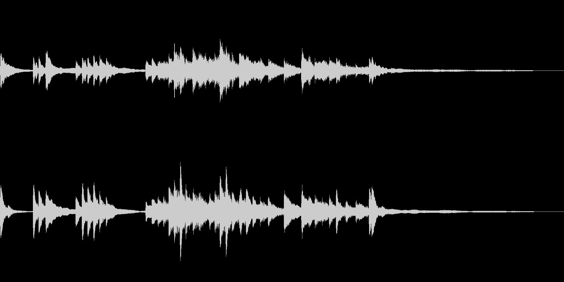 和風のジングル13-ピアノソロの未再生の波形