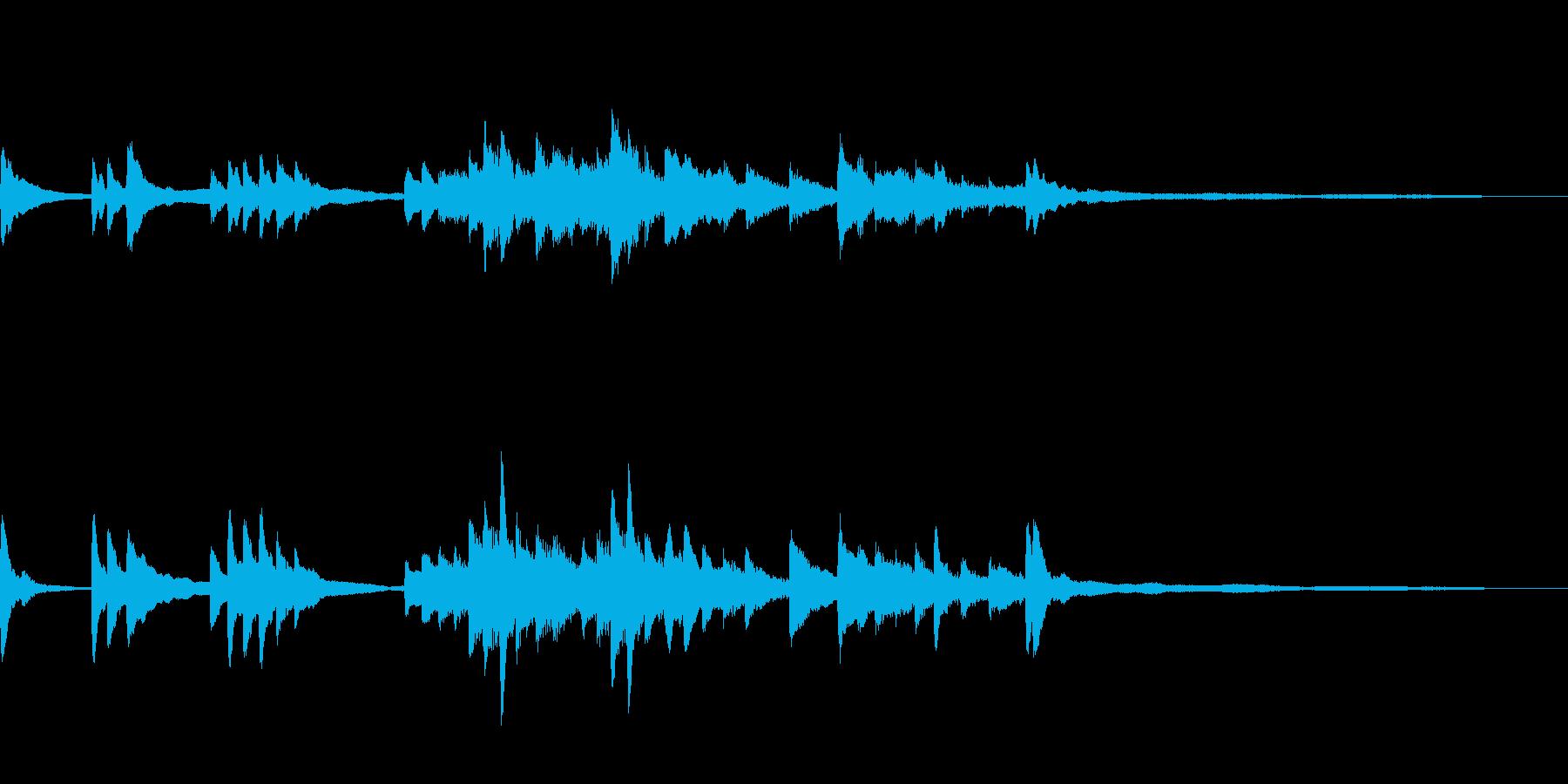 和風のジングル13-ピアノソロの再生済みの波形