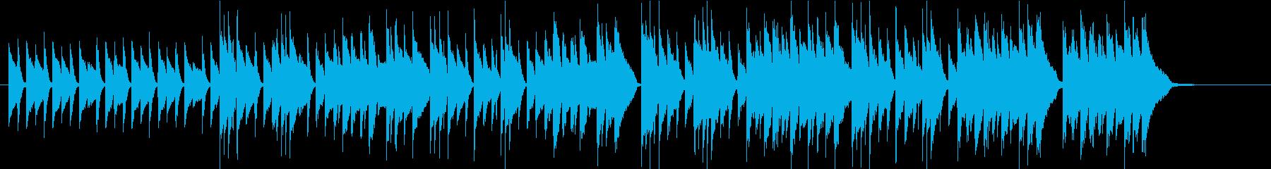 優しいワルツ、アコースティックサウンドの再生済みの波形