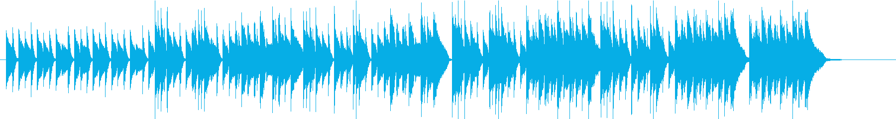 Gentle waltz, acoustic sound's reproduced waveform