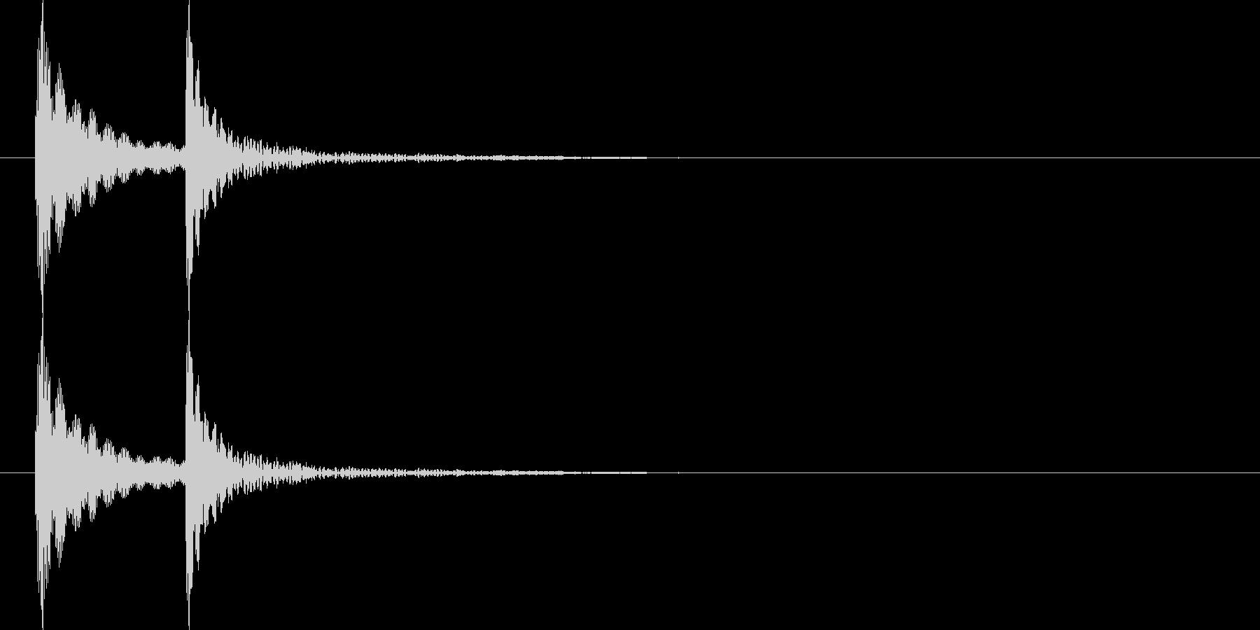 コテ(コテン)汎用的なタッチ音(高音)の未再生の波形