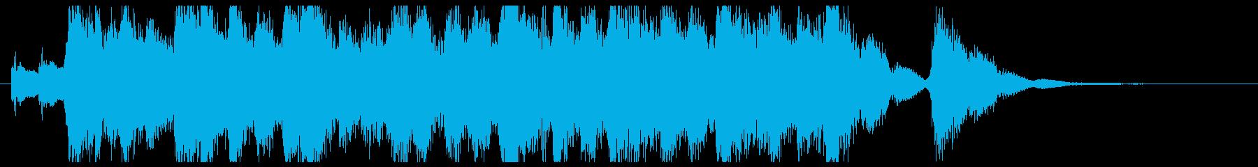 キラキラした前向きで懐かしいジングル1の再生済みの波形