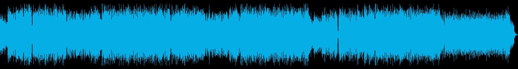 エキサイティングなエレクトロサウンドの再生済みの波形
