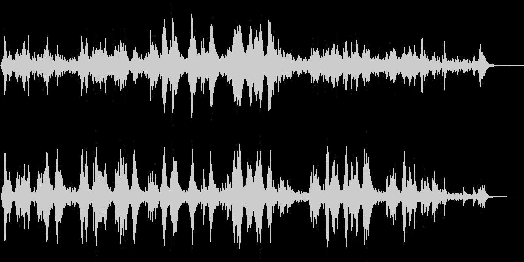 軽やかでキラキラしたイメージのピアノソロの未再生の波形