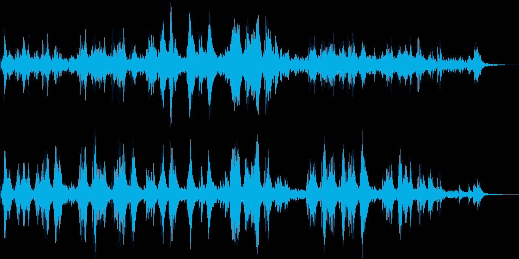 軽やかでキラキラしたイメージのピアノソロの再生済みの波形