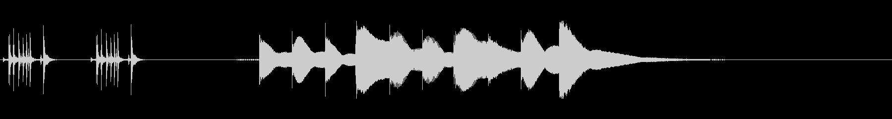 ジングル用オルゴール楽曲02-1の未再生の波形