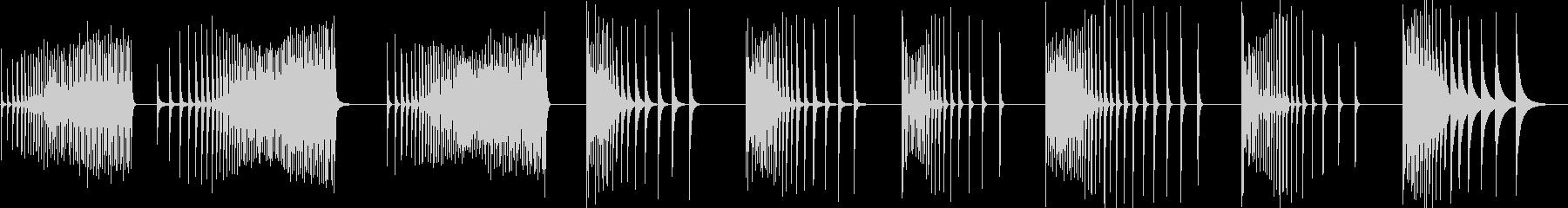 カウベル、ロール、9バージョン; ...の未再生の波形