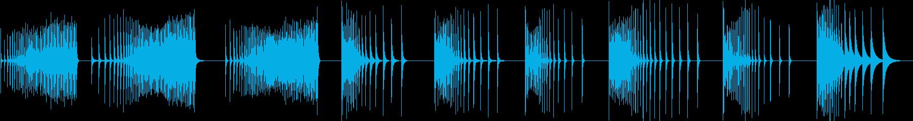 カウベル、ロール、9バージョン; ...の再生済みの波形