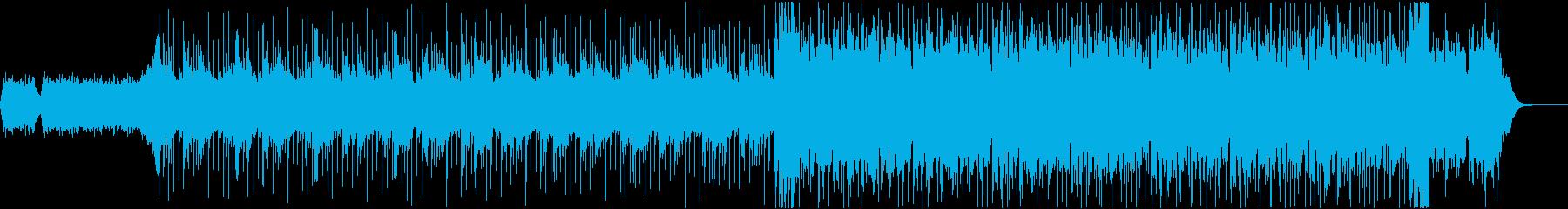 幻想的なアンビエントビートの再生済みの波形