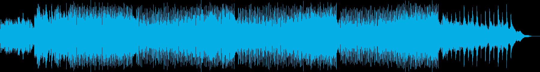 柔らかいシンセサイザーの16ビートの再生済みの波形