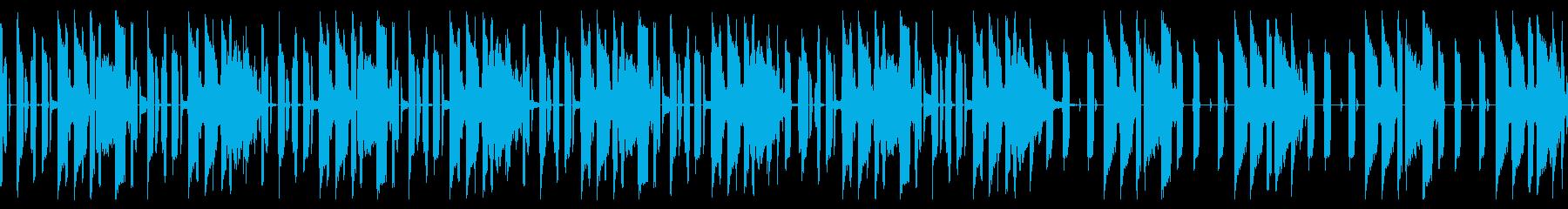 軽快なキレイめヒップホップBGMの再生済みの波形