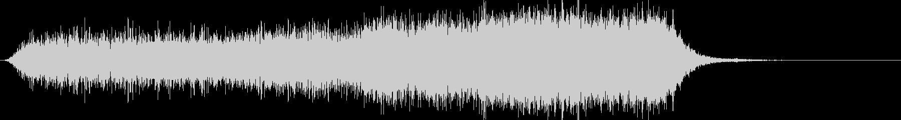 恐怖の電子音の未再生の波形
