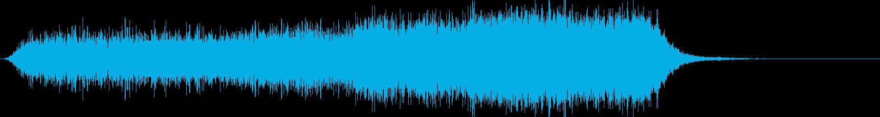 恐怖の電子音の再生済みの波形