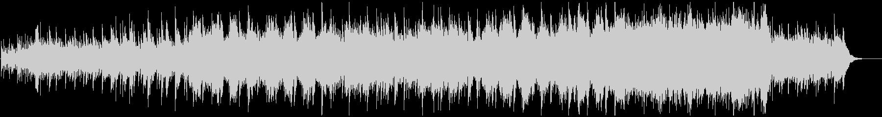 神秘的、感動的なピアノハープストリングスの未再生の波形