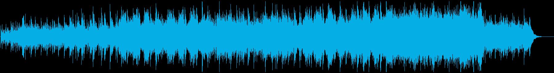 神秘的、感動的なピアノハープストリングスの再生済みの波形