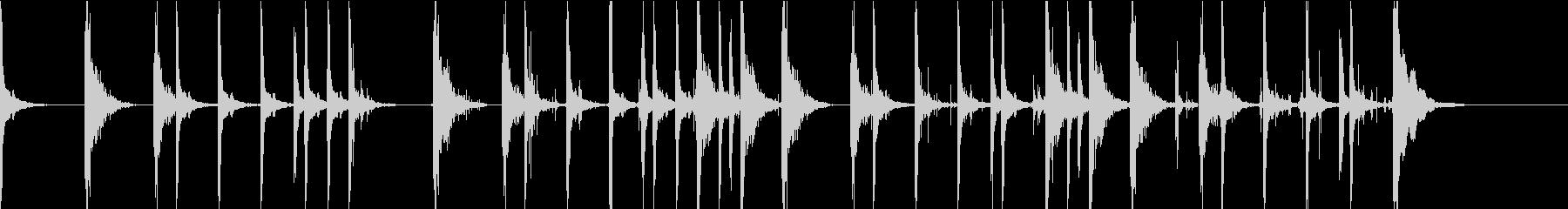 足音をイメージした音の未再生の波形