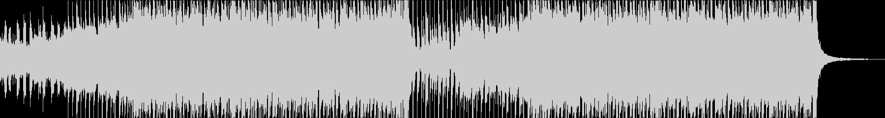 ヘビーなエレキ、疾走感のあるロックBGMの未再生の波形