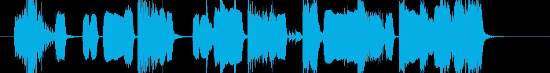 ピコピコ・可愛い・ジングルの再生済みの波形