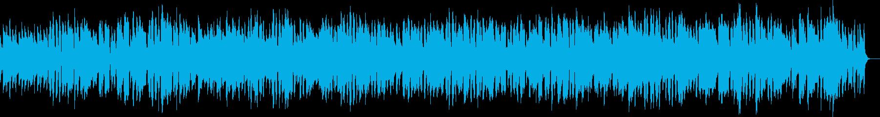 サックスとトロンボーンの明るいジャズの再生済みの波形