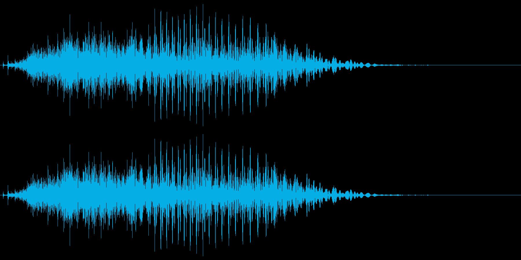 「チー」 麻雀ゲームのシステムボイスにの再生済みの波形