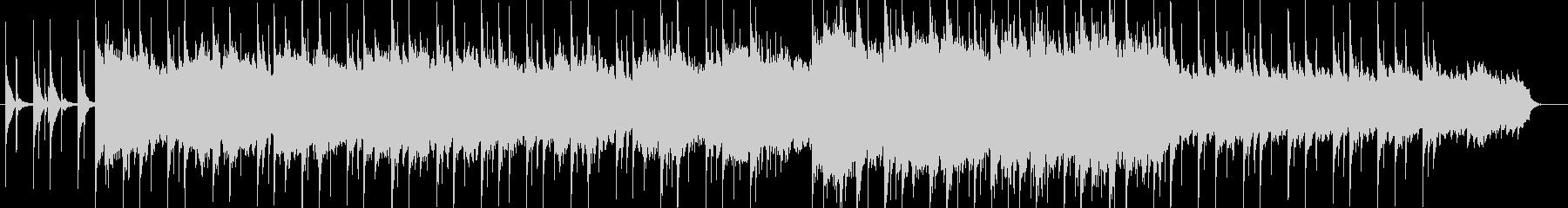 壮大な和風ピアノBGMの未再生の波形