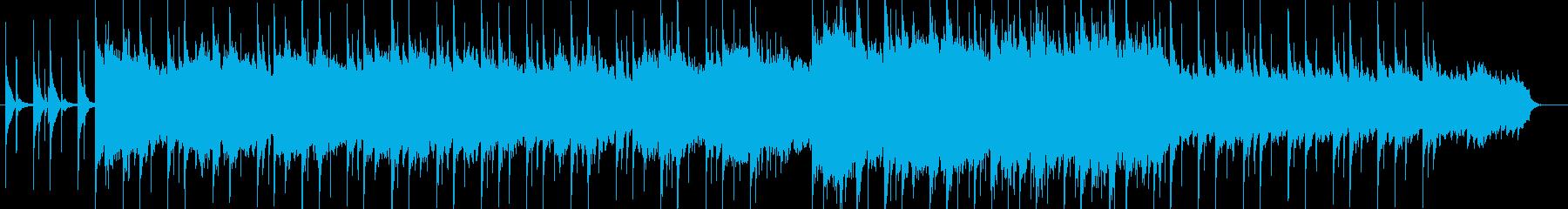 壮大な和風ピアノBGMの再生済みの波形