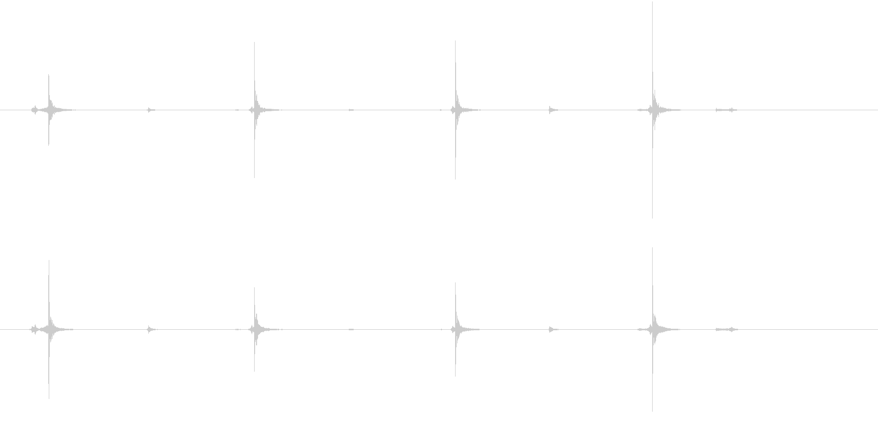 【生録音】ハサミの音 美容室 カット 5の未再生の波形