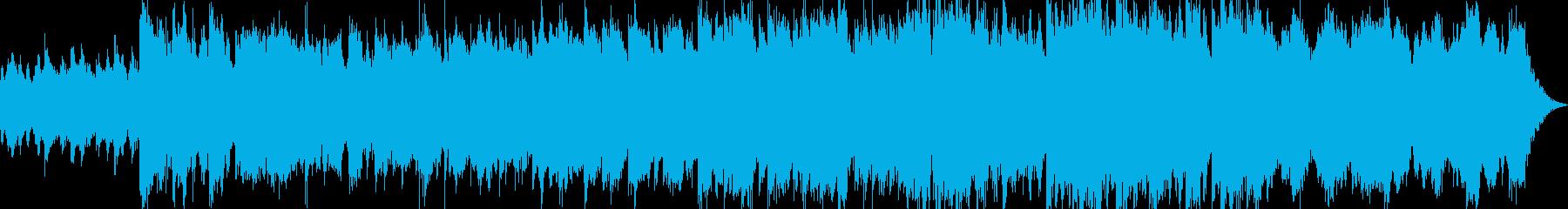 不安で落ち着かない奇妙なサウンドの再生済みの波形