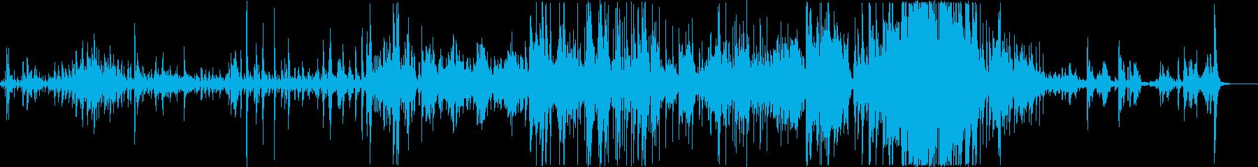 エスニック。即興ドラム、サックス、...の再生済みの波形