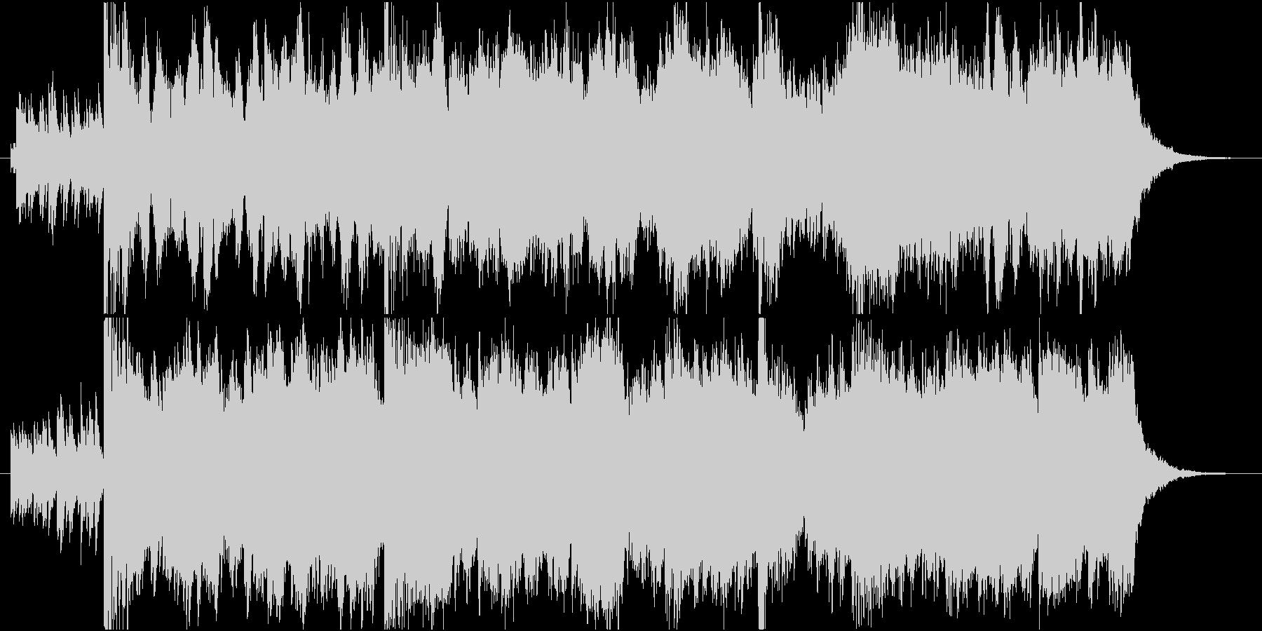 シリアスなドキュメンタリー番組風のBGMの未再生の波形