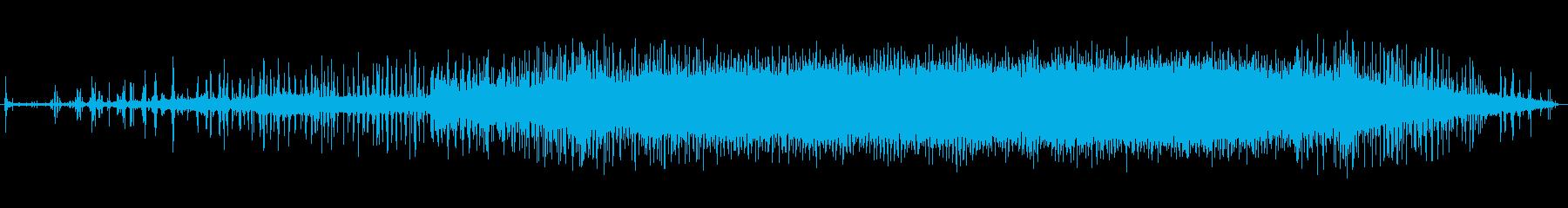 フラットベッドモビオラ:速い風、停止の再生済みの波形