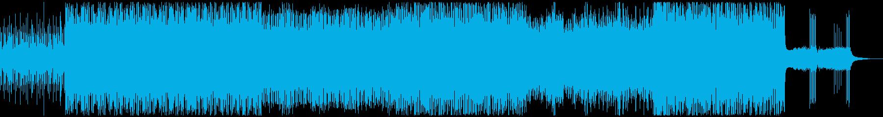 【トークに最適化】疾走するビート、テクノの再生済みの波形