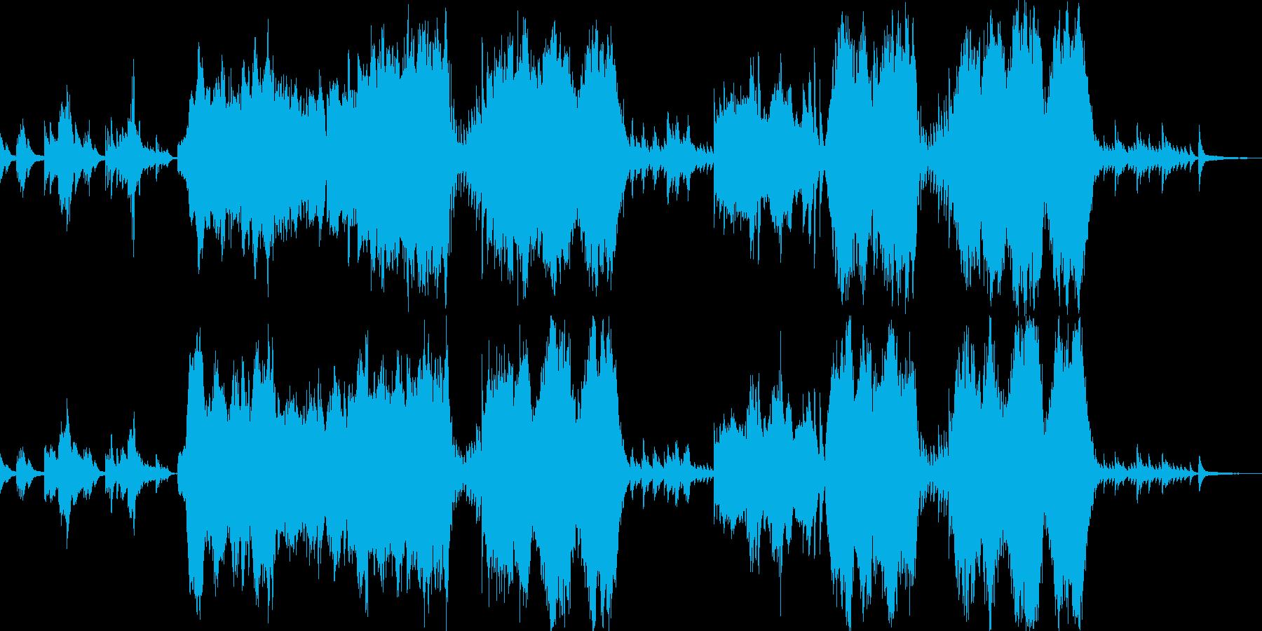 壮大なピアノオーケストラの再生済みの波形