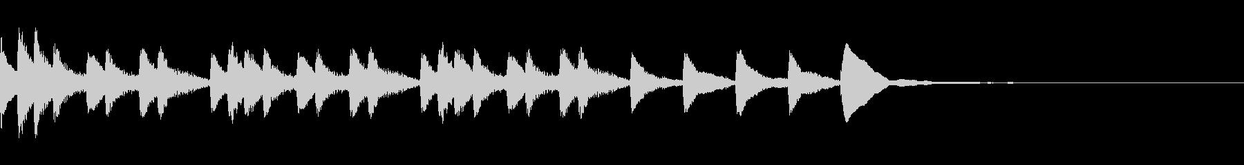 マリンバジングル6 ほのぼのの未再生の波形