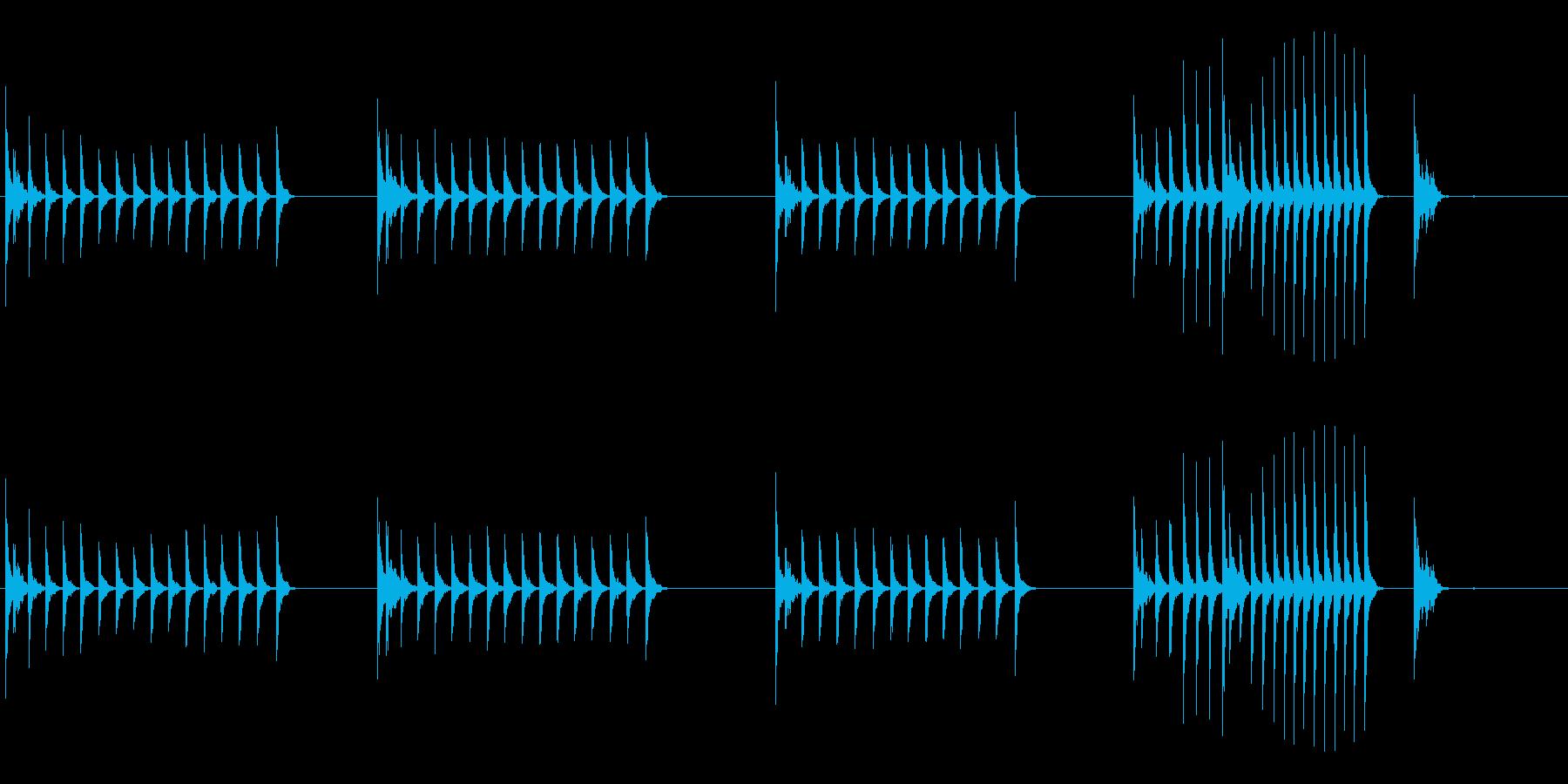 大太鼓21山ヲロシ歌舞伎情景描写和風和太の再生済みの波形