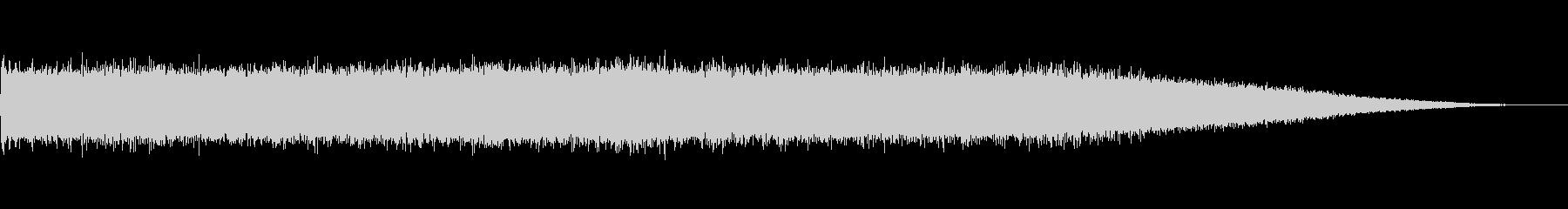 ブオーー!ミーンミーン…室外機と蝉の音の未再生の波形