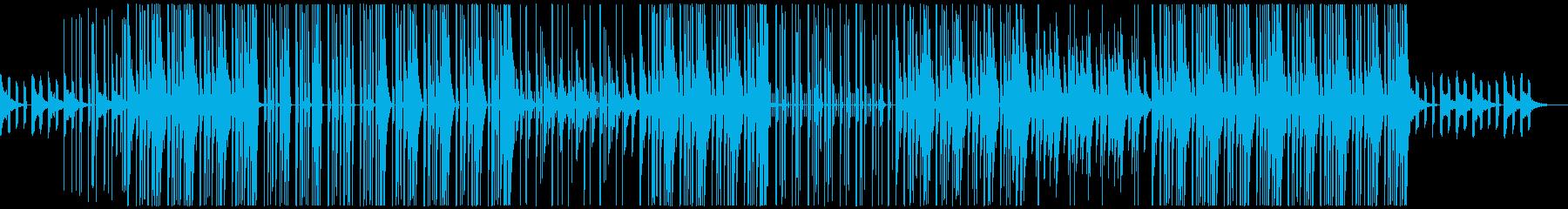 ポップテイストのトラップビートの再生済みの波形