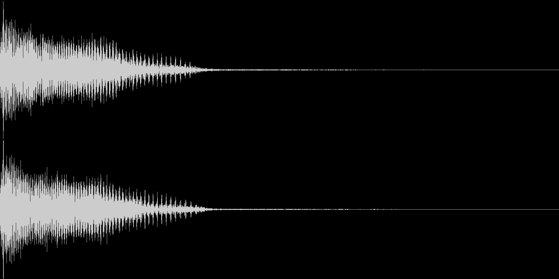 InvaderBuzz 発砲音 22の未再生の波形
