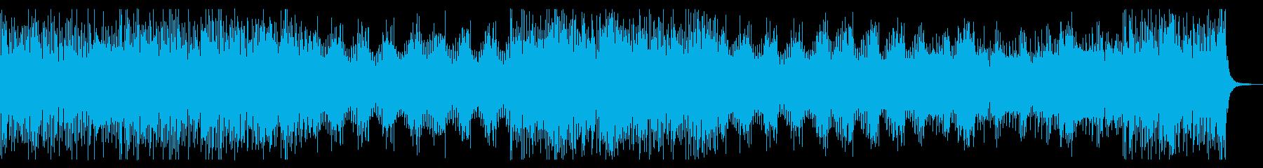 ベース主導のシリアスでダークな曲の再生済みの波形