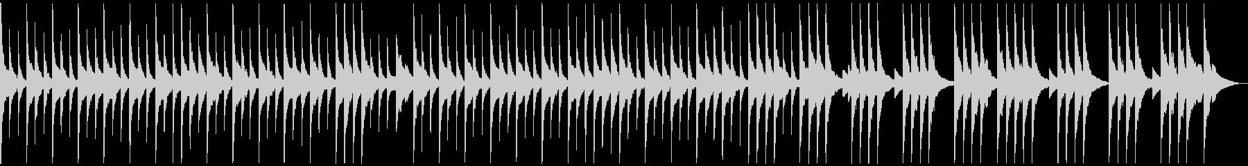 オルゴール風 ワルツの未再生の波形